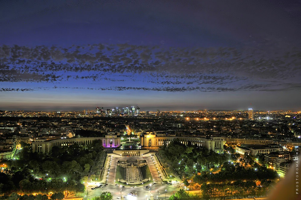 Ночной Париж, night Paris